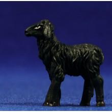 Cordero negro 8 cm resina