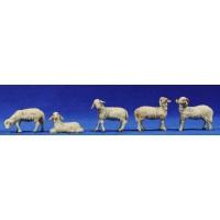 Grupo corderos 12 cm resina