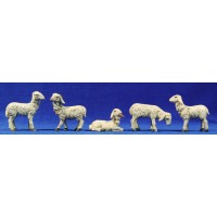 Grupo corderos 15 cm resina