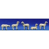 Grupo corderos 8 cm resina