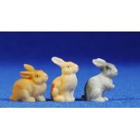 Grupo conejos 8 cm resina