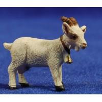 Cabra blanca 8 cm resina