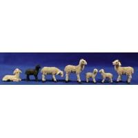 Grupo corderos con oveja negra 15 cm resina