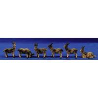 Grupo cabras 11 cm resina