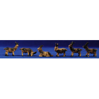 Grupo cabras 8 cm resina