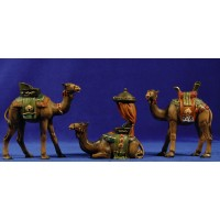Grupo 3 camellos 11 cm resina
