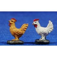 Grupo gallinas 6 cm resina