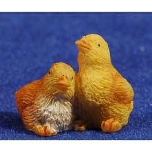 Conjunto dos pollitos 10 cm resina