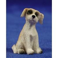 Perro sentado 10-12 cm resina