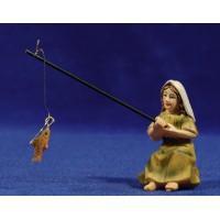 Pescadora 9 cm resina