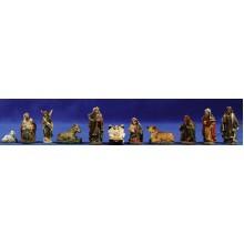Nacimiento con reyes y pastor 4,5 cm resina