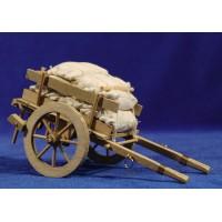 Carro sacos 15 cm madera
