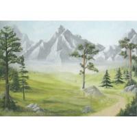 Fondo montaña 100x70 cm papel