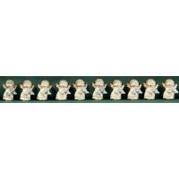 Conjunto diez ángeles blancos pegar 3 cm resina