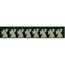 Conjunto ocho ángeles blancos purpurina pegar 3 cm resina