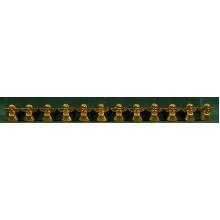 Conjunto doze ángeles dorados pegar 3 cm resina