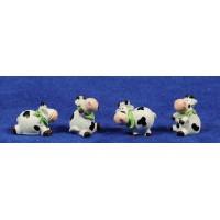 Vaca infantil 10 cm resina
