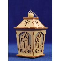 Farola decoración 10 cm madera