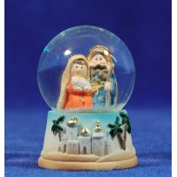 Bola de nieve nacimiento infantil 6,5 cm resina e cristal