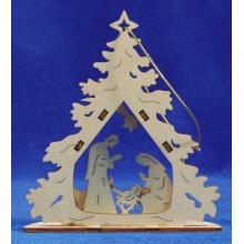 Nacimiento 12 cm madera