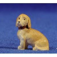 Perro sentado 8 cm resina