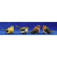 Conjunto cuatro pájaros 60 cm resina