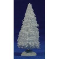 Abetos blanco 10 cm plástico