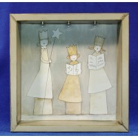 Cuadro angeles  28 cm metal Baden