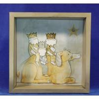 Cuadro reyes a camello 28 cm metal Baden