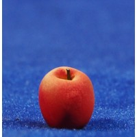 Manzana roja 1 cm resina