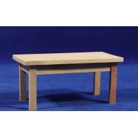 Mesa sola marrón 13x6,5x6 cm madera
