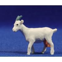 Cabra blanca 8 cm plástico