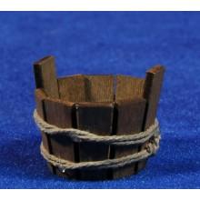 Barreño redondo 3 cm madera