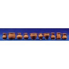 Jarra variada  3 cm barro