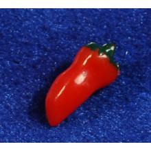 Pimiento rojo 1,4 cm resina