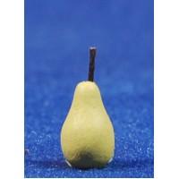 Pera amarilla con tallo 1,4 cm resina