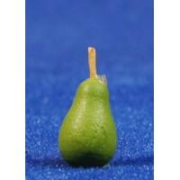 Pera verde con tallo 1,4 cm resina
