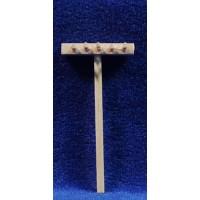 Rastrillo 6 cm madera
