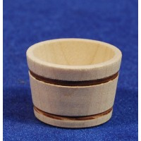 Barreño diámetro 3,2 cm madera