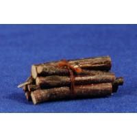 Balas de leña 4 cm madera