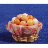 Cesto con huevos 2,5 cm resina