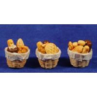 Cesto con panes 2,5 cm resina
