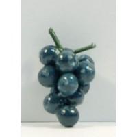 Uva negra con tallo 1,2 cm resina