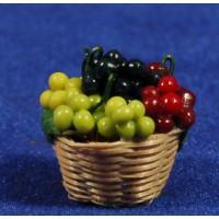 Cesto con uvas 2,5 cm resina