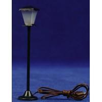 Farola de calle luz led blanca 10 cm metal