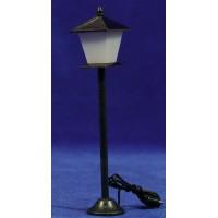 Farola de calle luz led blanca 14 cm metal