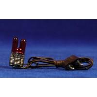 Luz fogata 3 bombillas 2 cm