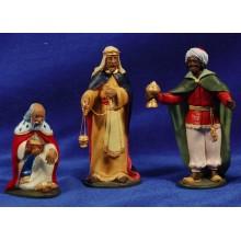 Reyes adorando 12 cm barro pintado Artdemirs