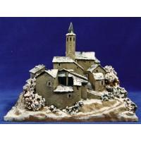 Pueblo nevado 19 cm resina Artdemirs