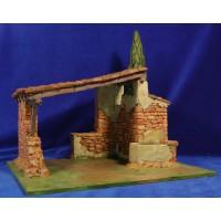 Portal con pozo y ciprés 12 cm resina Artdemirs
